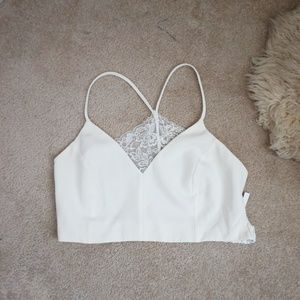 ASOS white lace crop top